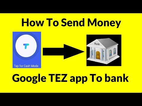 How To Send Money Google Tez To Bank Account