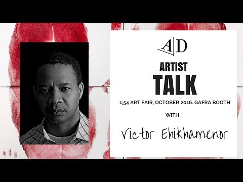 Victor Ehikhamenor 1:54 Art Fair, London, 2016. Artist Talk