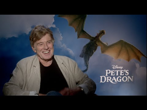 Robert Redford interview for PETE'S DRAGON - Butch Cassidy and the Sundance Kid, The Sting