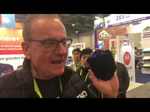Tommy Bonk Of OSKA Wellness Shows The OSKA Pulse At CES 2018 #CES2018