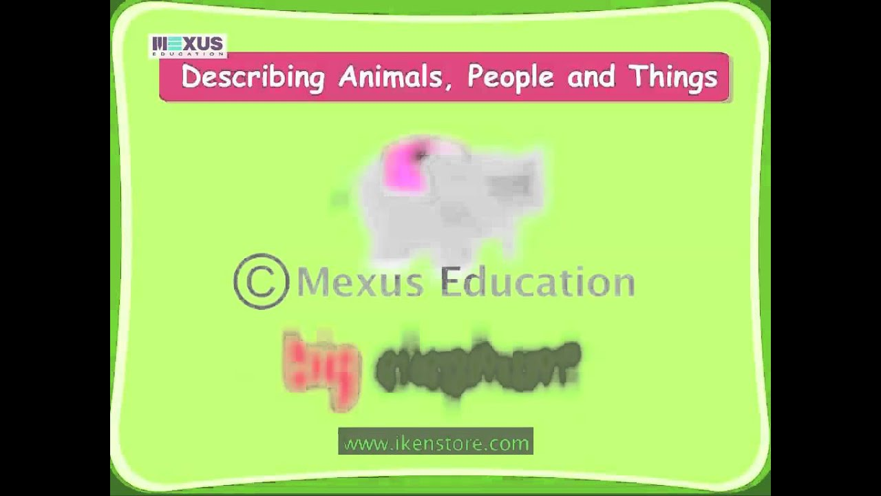 Describing Words Youtube