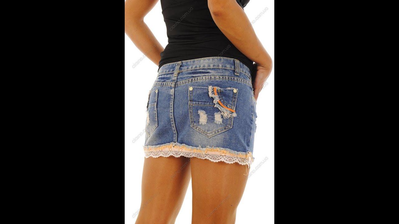 Джинсовые юбки мини фото 614-314