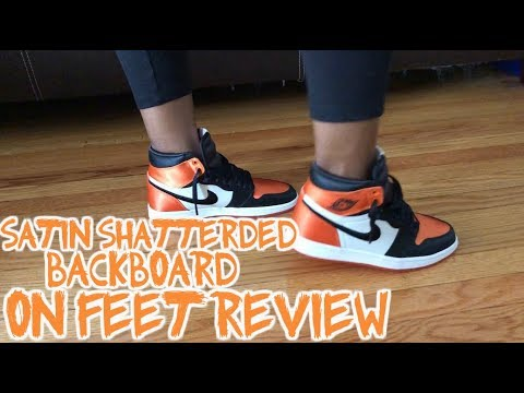 size 40 3300b cc4a8 AIR JORDAN 1 SATIN SHATTERED BACKBOARD REVIEW AND ON FOOT !!!