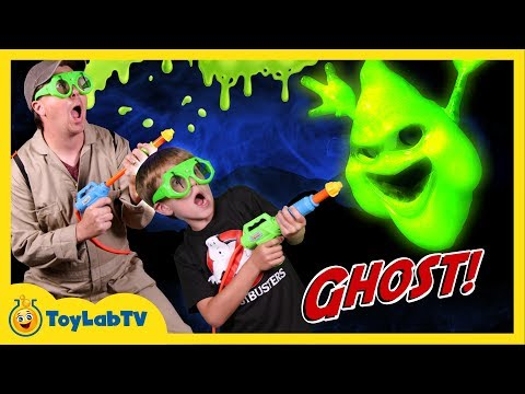 Thumbnail: GET SLIMED! Ghost Chaser vs Messy Slime Ghosts & T-Rex Dinosaur w/ Toys in Real Life Fun Kids Video