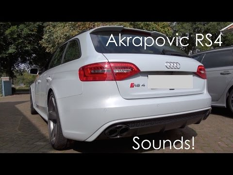 (HD) Audi RS4 Avant B8 w/ Akrapovic exhausts in Action! LOUD Accelerations, Revs, Downshifts etc.