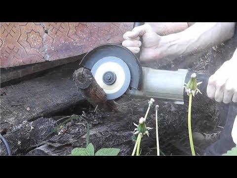 Резать Дерево и газоблоки болгаркой. Личный опыт