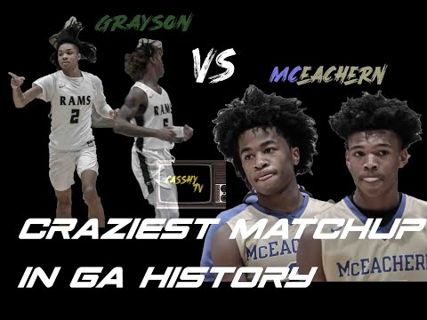 GRAYSON VS MCEACHERN'S VERY OWN BATTLE OF THE GAURDS IN FRONT OF PACKED WALL TO WALL CROWD!