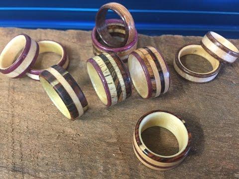 Make Wood Rings on the Drillpress