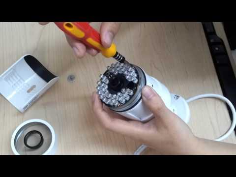 Dahua- IPIR2200S bullet camera lens focus adjustment