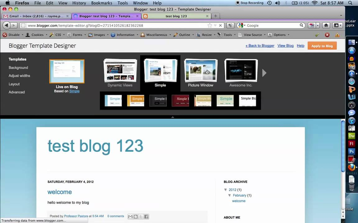 How to use blogger
