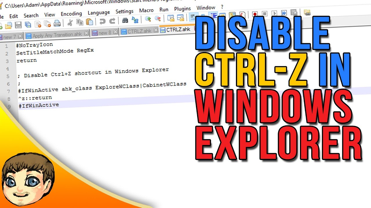 END THE FRUSTRATION // How to Disable CTRL-Z in Windows Explorer (Tutorial)
