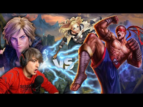 Playing EZREAL FIRST TIME - League Of Legends // Ezreal Vs Lee Sin And Lux