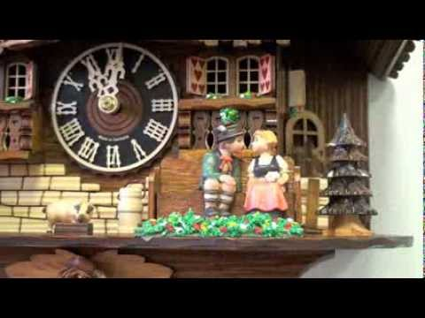 Black Forest Cuckoo Clock 1 Day Chalet Musical w/ Sliding Kissing Figures, 16