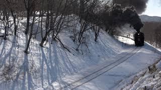 SL冬の湿原号 釧路湿原駅発車 2019/02/15