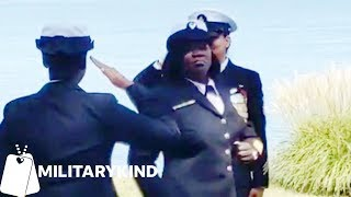 Sailor channels Rihanna at her retirement ceremony   Militarykind