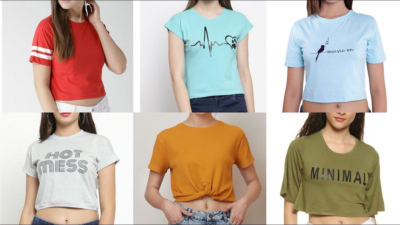 Summer Short T Shirt Designs For Girls 2020 Fancy T Shirt For Girls Stylish T Shirt Design Tshirt Youtube