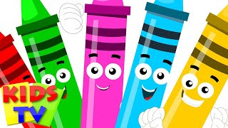 five little Crayons | color song | ...
