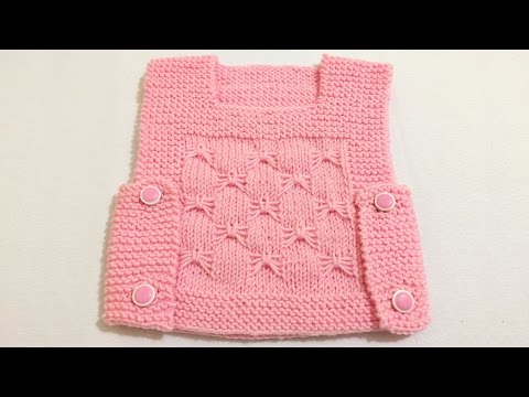 Easy Baby Vest How? (The beginning Last Lecture) - baby knitting patterns - baby vests