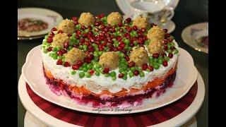 Нежный Праздничный Салат ГЕНЕРАЛ - Как легко украсить салат
