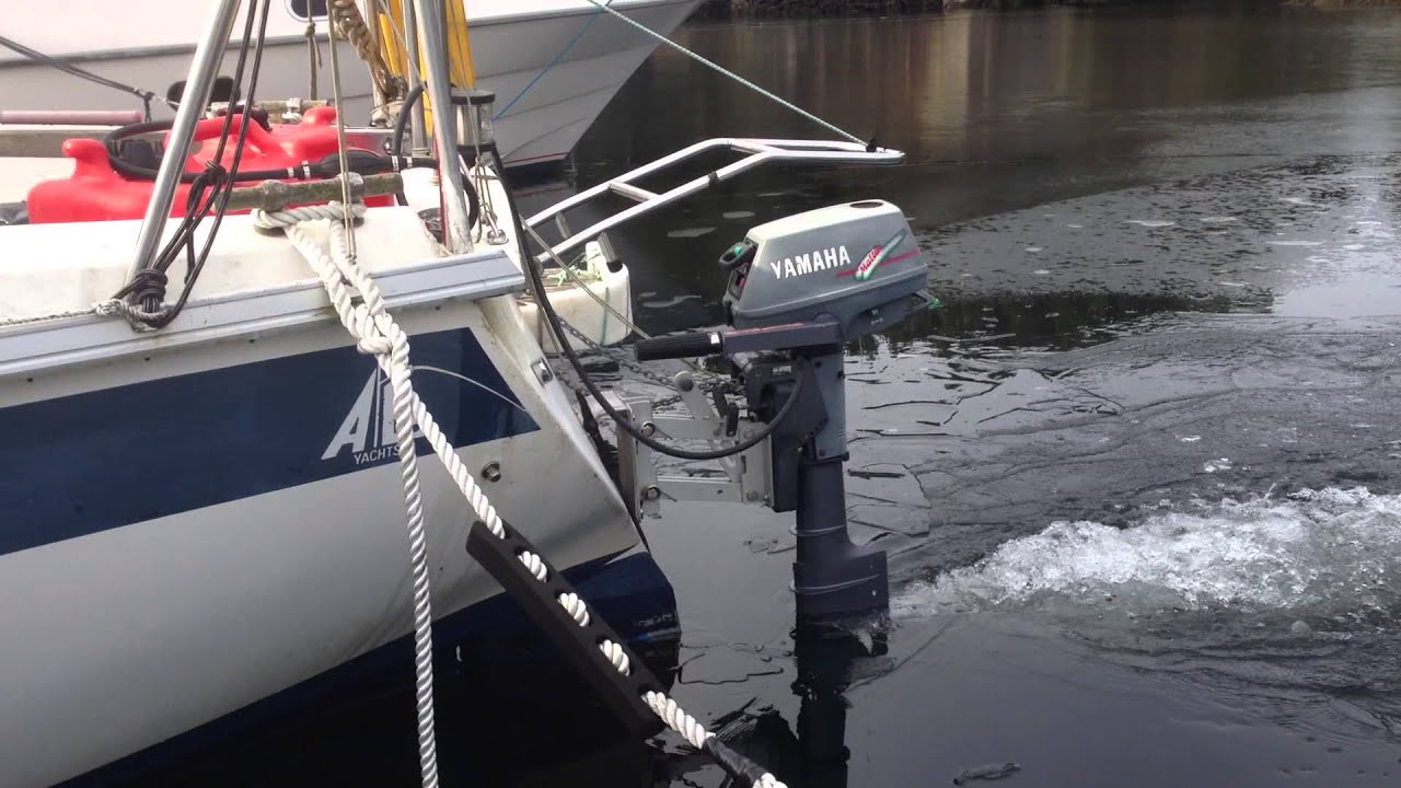 Yamaha malta outboard motor mounted on sailboat alo for Outboard motor for canoe