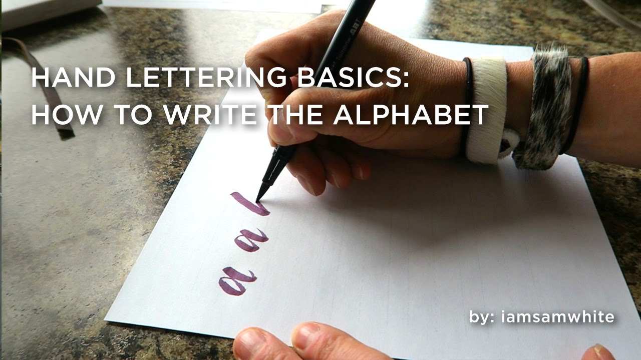 Hand lettering basics: how to write the alphabet free download