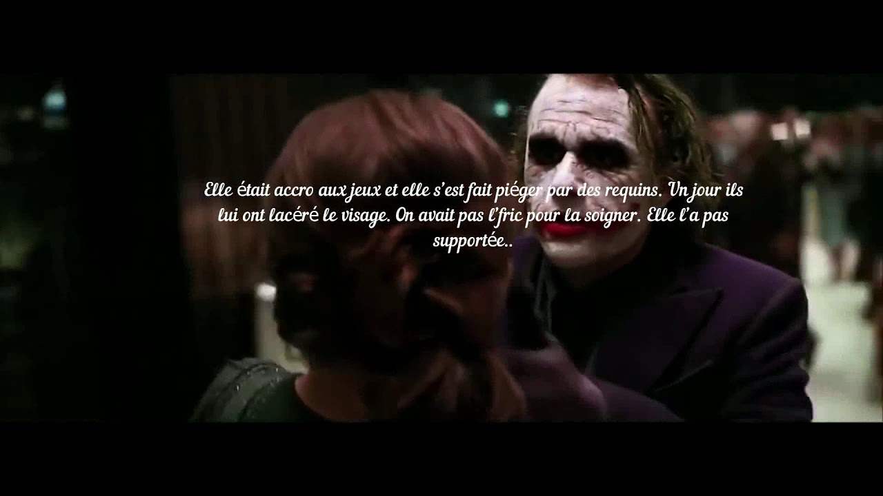 The Dark Knight Joker Citation Chevalier Noir Youtube
