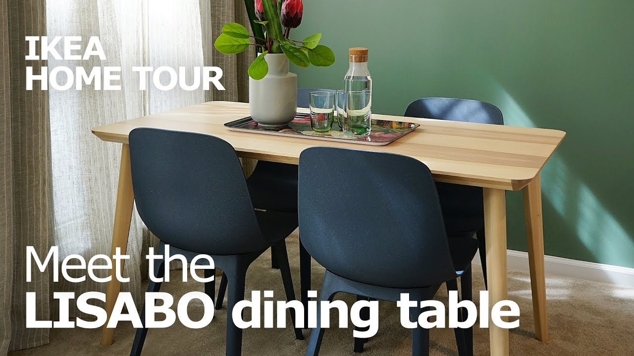 Stain Resistant LISABO Dining Room Tables   IKEA Home Tour
