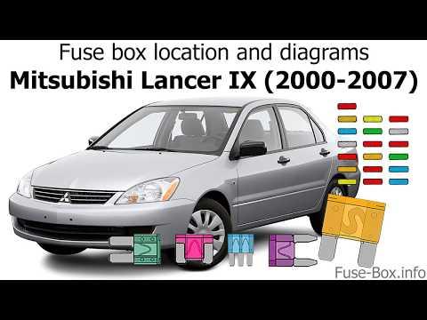 Fuse box location and diagrams: Mitsubishi Lancer IX (2000-2007 ... Fuse Box 2002 Mitsubishi Lancer YouTube