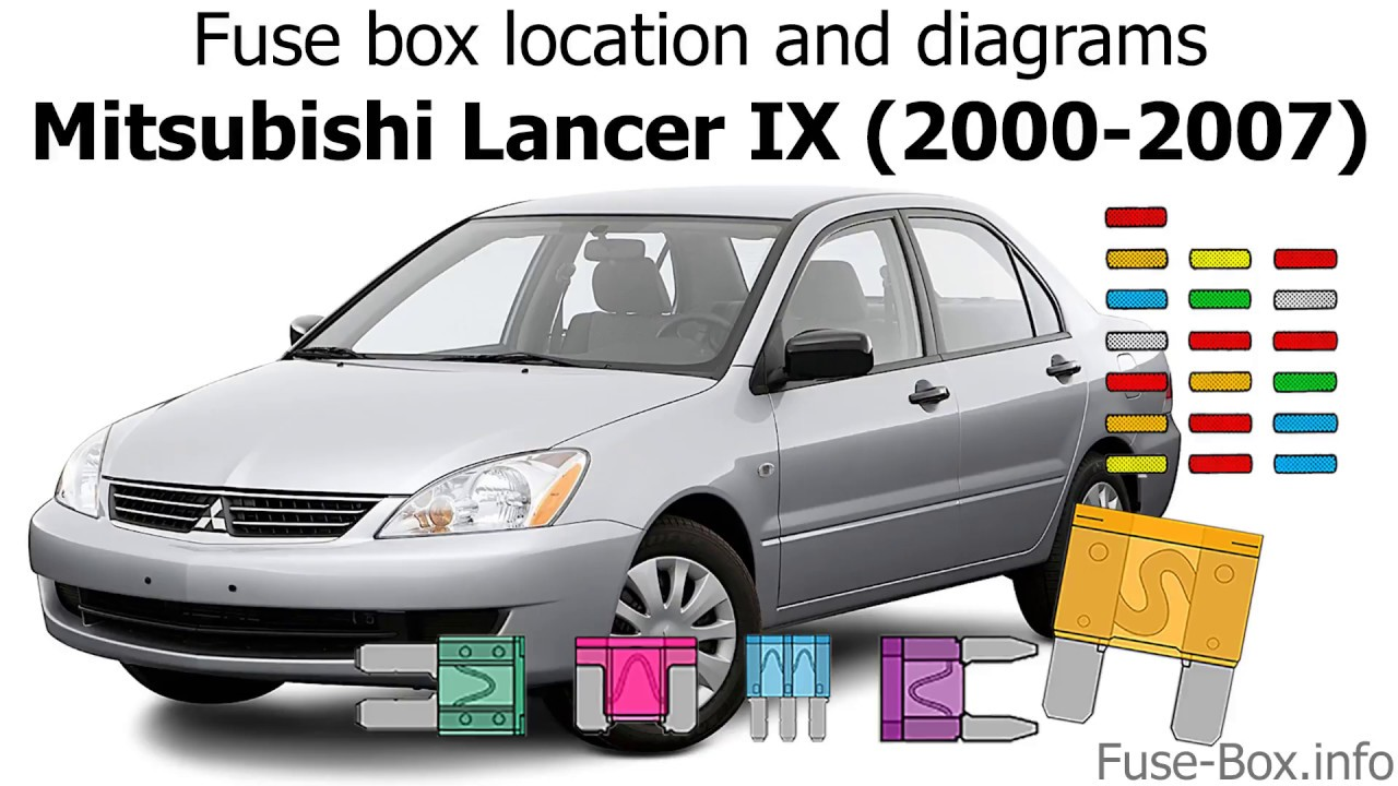 fuse box location and diagrams: mitsubishi lancer ix (2000-2007) - youtube  youtube
