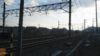 甲種輸送 EF64+DD200 牛乳パック JR京都線