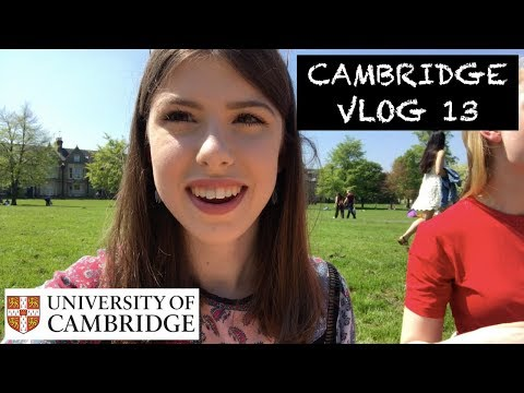 CAMBRIDGE VLOG 13: STUDYING IN THE SUN!