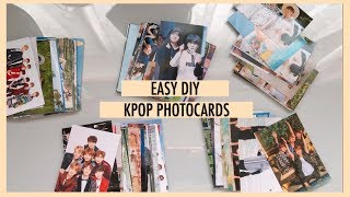 ✨ easy diy kpop photocards