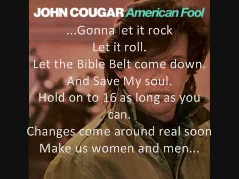 John Cougar: Jack and Diane