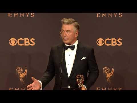 Alec Baldwin will play Trump again next season - Full Backstage Emmy's Speech
