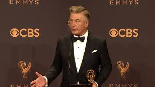 Alec Baldwin will play Trump again next season - Full Backstage Emmy's Speech