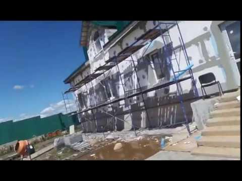 Утепление фасада пенопластом частного дома. AKV-STROY.NET - YouTube