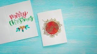 Handmade Christmas Card | Christmas Card Making Ideas