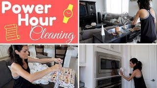 CLEAN WITH ME | POWER HOUR CLEANING | SAHM