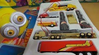Rocket Control Center Vintage Semi Trailer Truck Toy Set