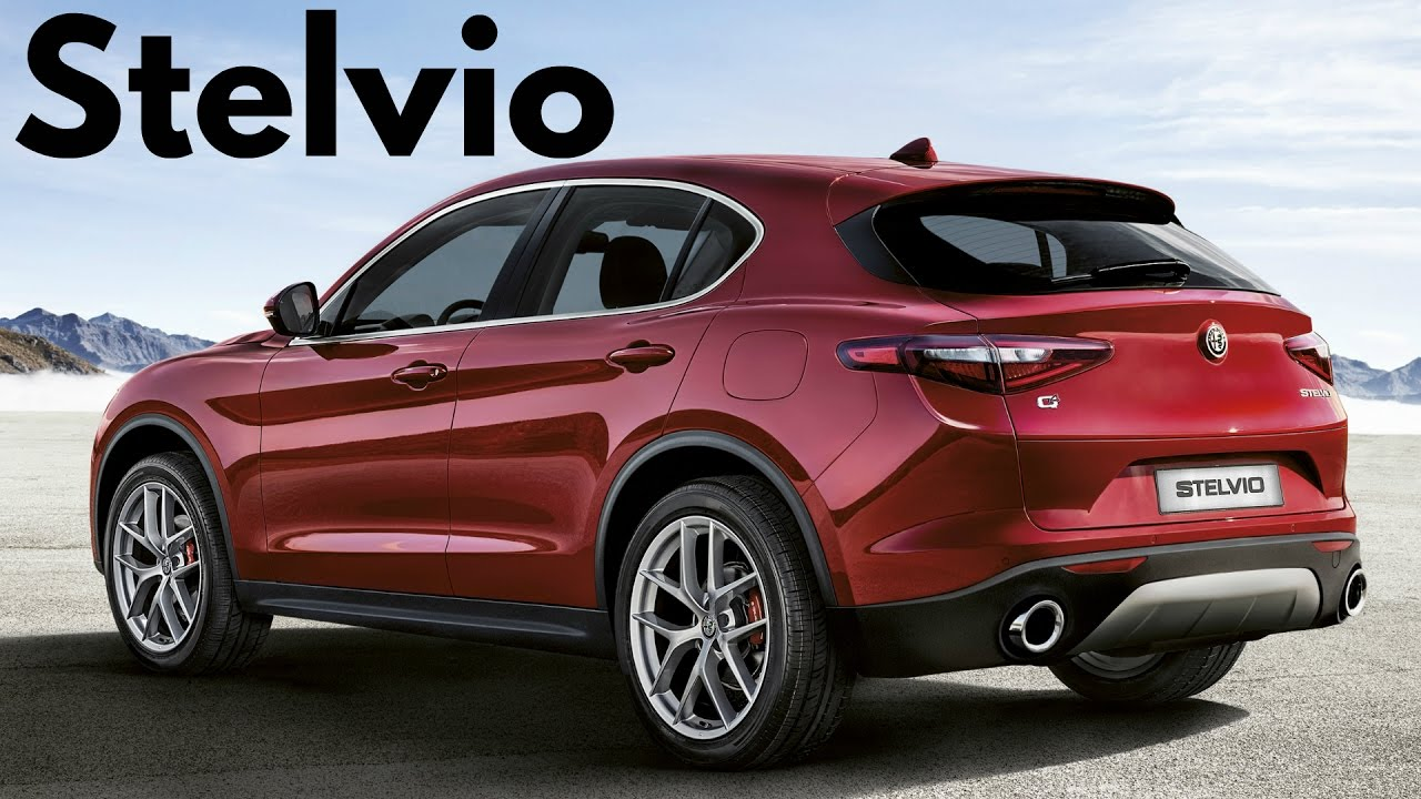 2018 Red Alfa Romeo Stelvio Q4 Mid Size Luxury Crossover With