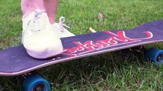 Уроки скейта. Первые шаги. Как вставать на скейт.