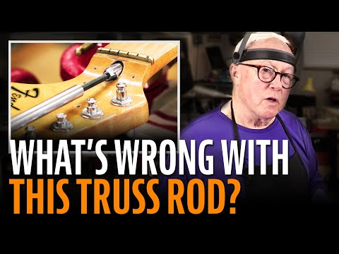 What's wrong with this Fender truss rod?