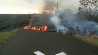 Hawaii lava continues slow crawl from Kilauea volcano
