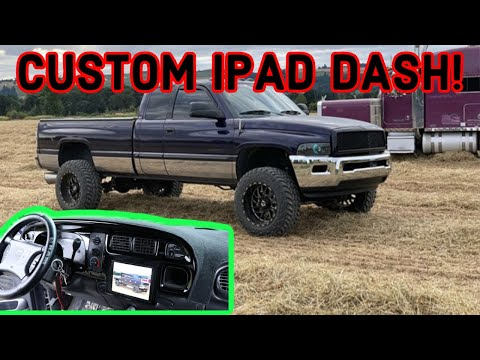 HOW TO INSTALL CUSTOM IPAD DASH IN 2ND GEN CUMMINS!