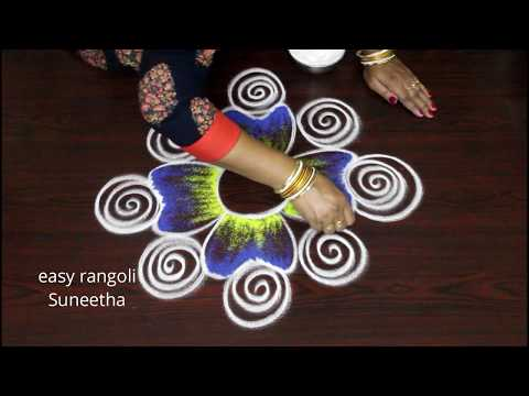 Cute Rangoli Designs For Sankranthi Festival || Easy N Simple Pongal Kolam || New Muggulu2019