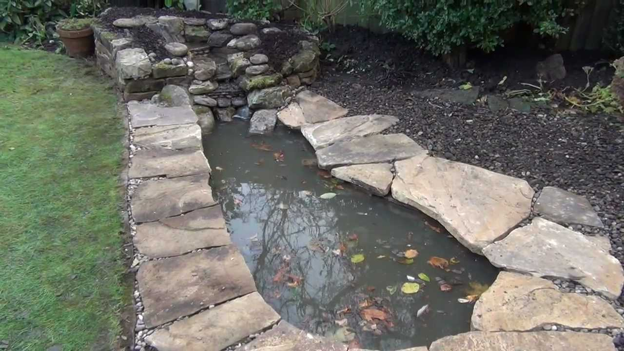 Small pond and cascade construction at jesmond newcastle for Small pond construction