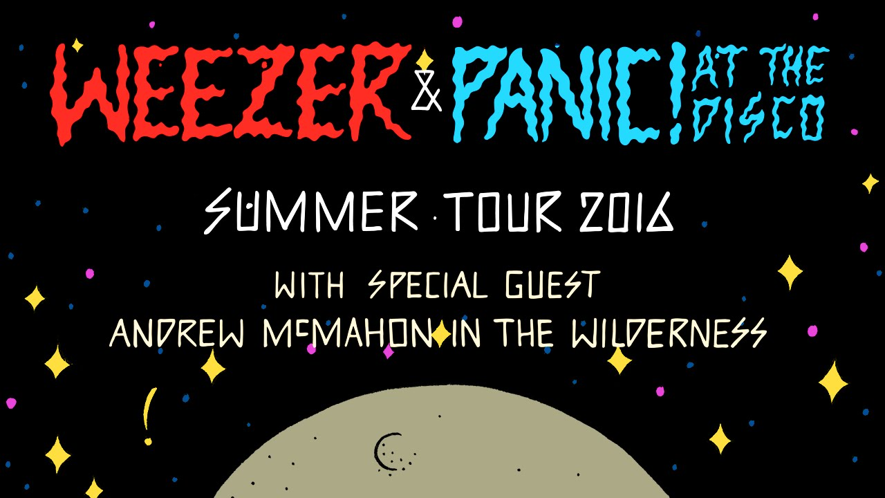 Fall Out Boy Wallpaper Desktop Weezer Amp Panic At The Disco Summer Tour 2016 Youtube
