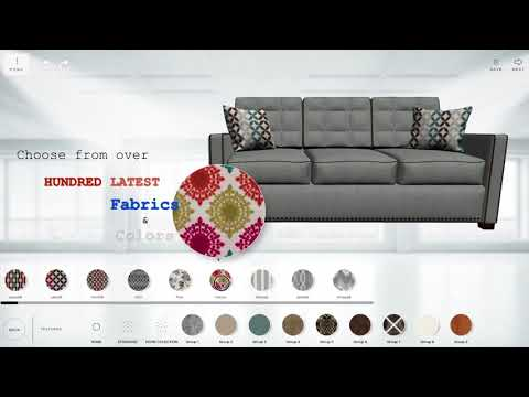 Custom your dream sofa on Gardena Sofa website