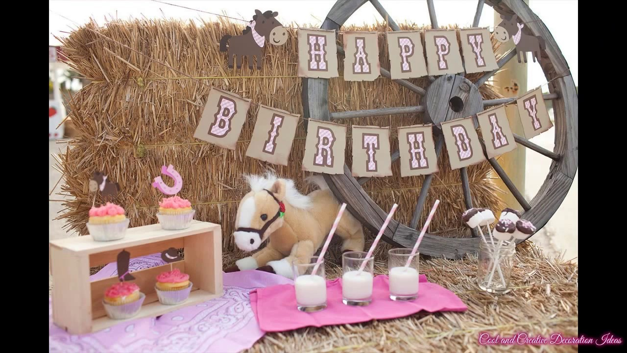 Cowgirl Birthday Party Decorations Ideas