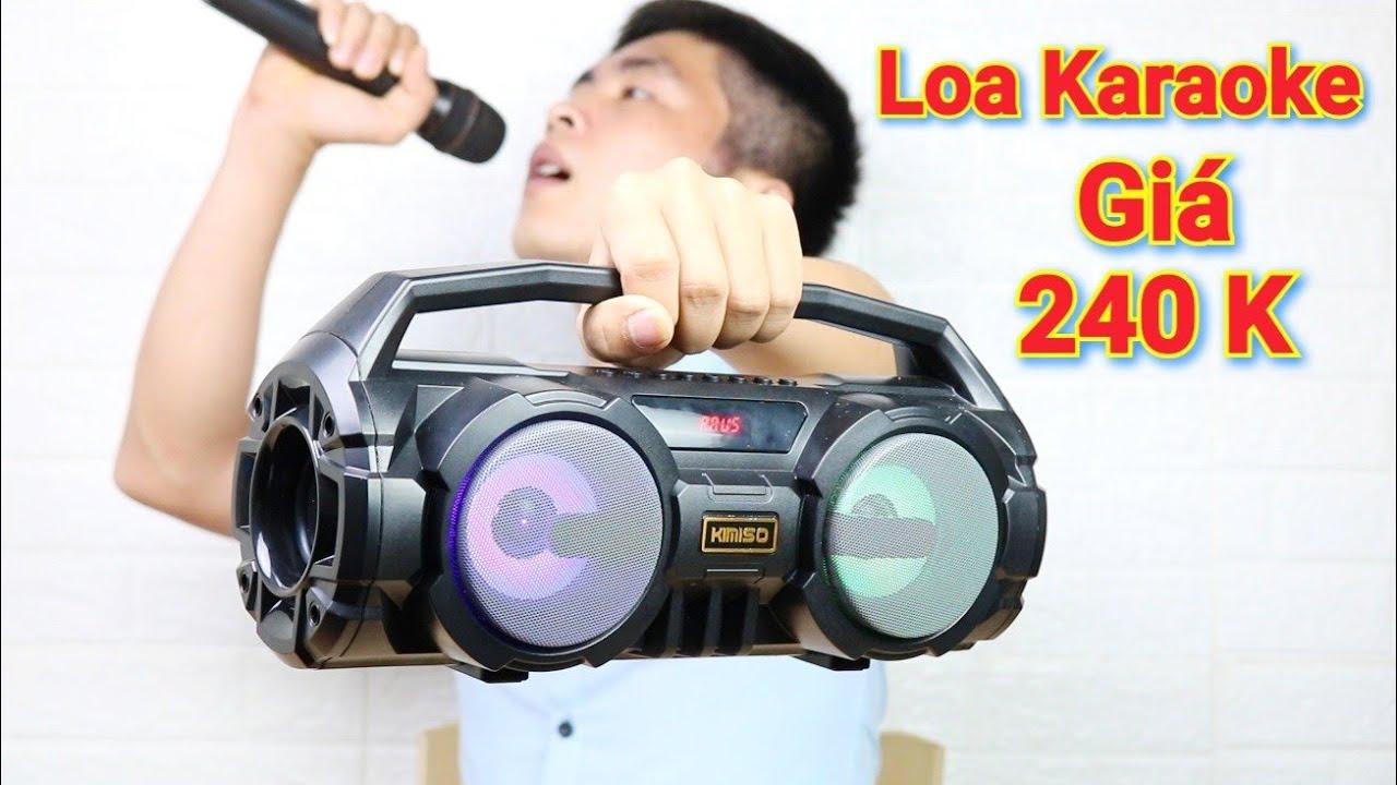 Trên Tay Loa Karaoke Bass Khủng Giá Cực Rẻ Hát Hay Có Micro Đi Kèm – KIMISO S1 S2